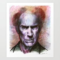 Clint Eastwood Portrait Art Print
