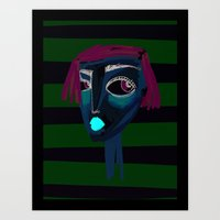 Portrait Of A Girl Art Print