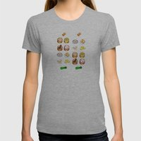 Dim Sum  Womens Fitted Tee Athletic Grey SMALL