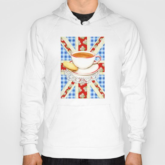 Union Jack and a Cup of Tea Hoody