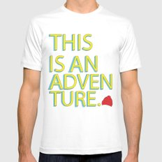 This Is An Adventure Mens Fitted Tee White SMALL