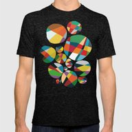 Wheel Of Fortune Mens Fitted Tee Tri-Black SMALL