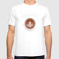 Yes Please Mens Fitted Tee White SMALL