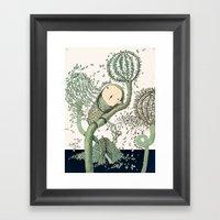 My Green Memory Framed Art Print