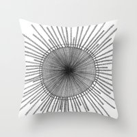 Porpita Porpita I B&W Throw Pillow