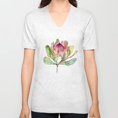 Protea Flower Unisex V-Neck
