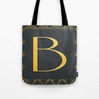 Art Deco Monogram - B Tote Bag