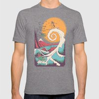 Surf Before Christmas Mens Fitted Tee Tri-Grey SMALL