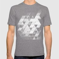 Dythyrs Mens Fitted Tee Tri-Grey SMALL