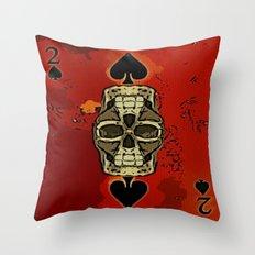 DUECES ARE WILD V2 - 002 Throw Pillow