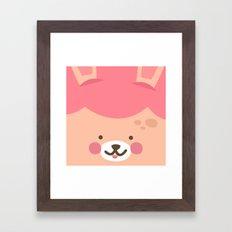Bunny Smile Framed Art Print