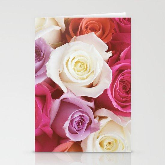 Romantic Rose Stationery Card