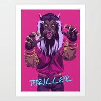 THRILLER - Werewolf Version Art Print