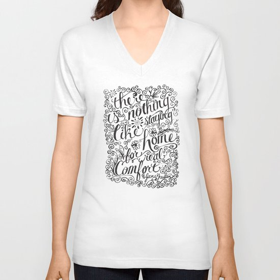 there is nothing like staying home... V-neck T-shirt
