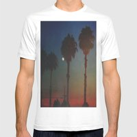 Moon Glow Mens Fitted Tee White SMALL