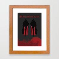 Christian Louboutin Aesthetic Framed Art Print