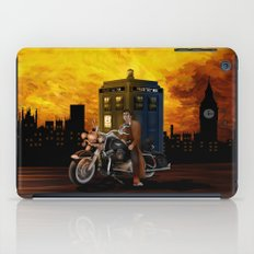 10th Doctor who with Big Motorcycle iPad Case