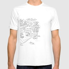 First Contact Mens Fitted Tee SMALL White