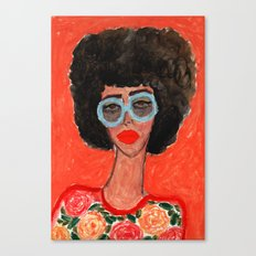 Afro Babe Canvas Print
