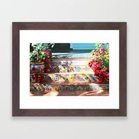 Colorful Steps Framed Art Print