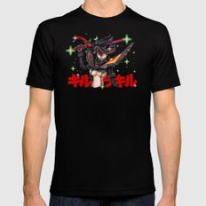 Kill La Kill Ryuko & Senketsu Tribute Mens Fitted Tee SMALL Black