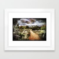 Down the Beaten Path Framed Art Print