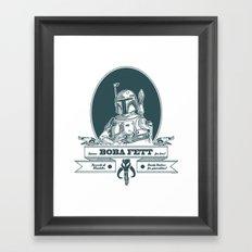 Famous Boba fett for hire! Framed Art Print
