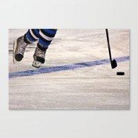 He Skates Canvas Print