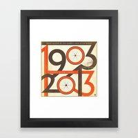 100 Years Of The Tour De… Framed Art Print