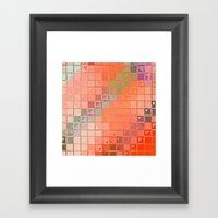 Re-Created Fired Clay 5 … Framed Art Print