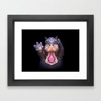 Animal Portraits - Hippopotamus Framed Art Print