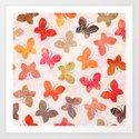 BUTTERFLY SEASON Art Print