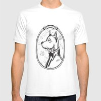 Family Portrait Dog Mens Fitted Tee White SMALL