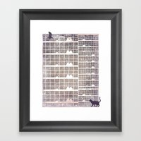 Our Building, Early In T… Framed Art Print