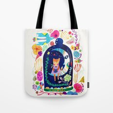 Little fox in Secret place Tote Bag