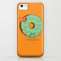 iPhone 5c Cases featuring The Zombie Donut by Nick Volkert