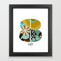 Number Eight Framed Art Print