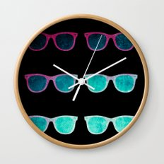 NEO GLASSES Wall Clock