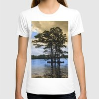 Cypress Trees Womens Fitted Tee White SMALL