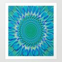 Hypnotix #1 Optical Illusion Art Print