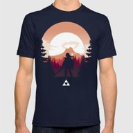 The Legend Of Zelda - Or… Mens Fitted Tee Navy SMALL