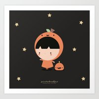 Cute Pumpkin Art Print