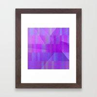 Blue Star Rainbow Framed Art Print