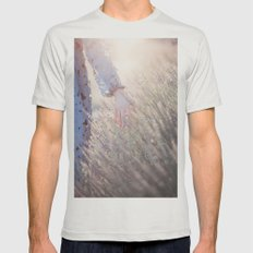Hand and sunset Mens Fitted Tee Silver SMALL