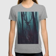 Blue forest Womens Fitted Tee Athletic Grey SMALL