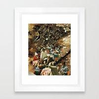 we're all waiters. Framed Art Print