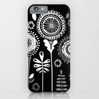 iPhone & iPod Case featuring Folksy Flowerheads reverse by Katy Clemmans