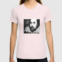 William Shakespeare Port… Womens Fitted Tee Light Pink SMALL