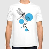 Dragonfly Mens Fitted Tee White SMALL