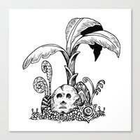 Forest Totem Canvas Print